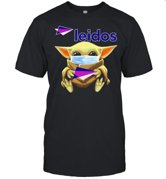 Baby Yoda face mask hug Leidos shirt Classic Men's T-shirt