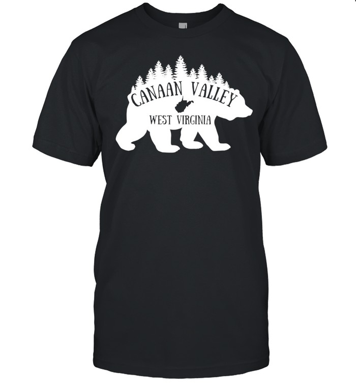 Canaan Valley West Virginia Bear Forest Nature WV State Map shirt Classic Men's T-shirt