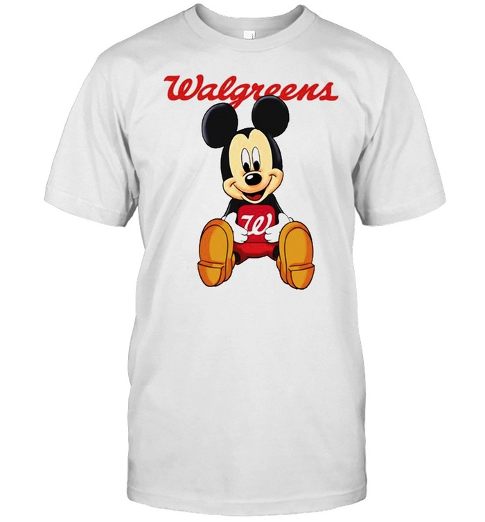 Mickey mouse hug Walgreens logo shirt Classic Men's T-shirt