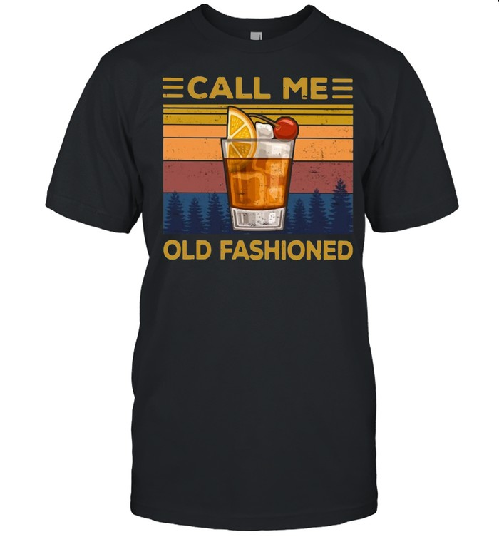 Wine Call Me Old Fashioned Vintage T-shirt Classic Men's T-shirt