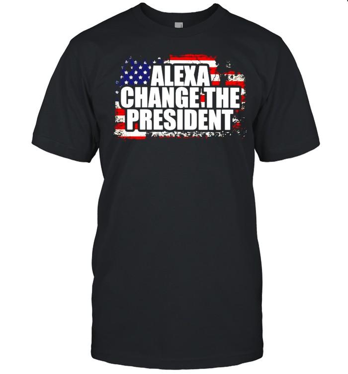 American flag Alexa change the president shirt Classic Men's T-shirt