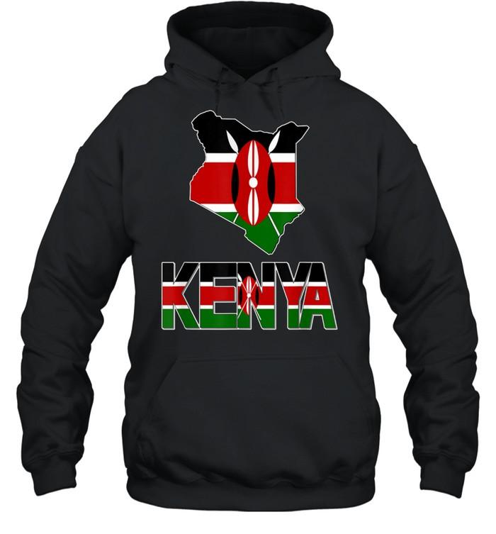 kenya map with kenya flag love kenya kenyan pride shirt unisex hoodie