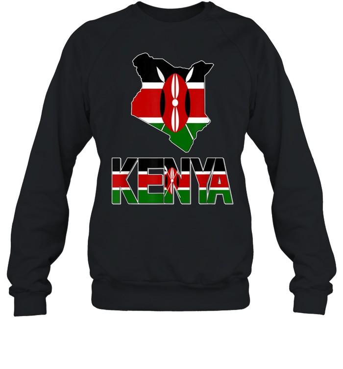 kenya map with kenya flag love kenya kenyan pride shirt unisex sweatshirt