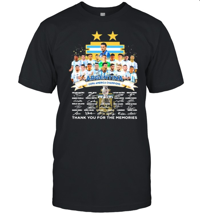 Argentina copa america champions 2021 thank you for the memories signatures shirt Classic Men's T-shirt