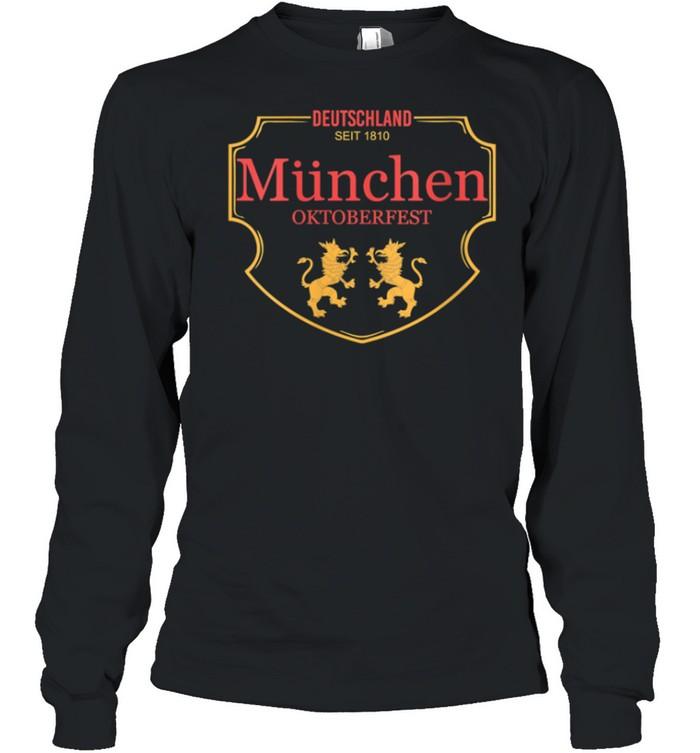 Deutschland Munchen Oktoberfest shirt Long Sleeved T-shirt