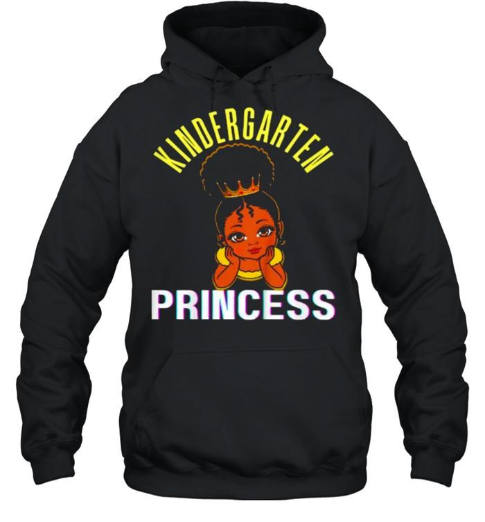 kids kindergarten princess black girl magic brown skin  unisex hoodie
