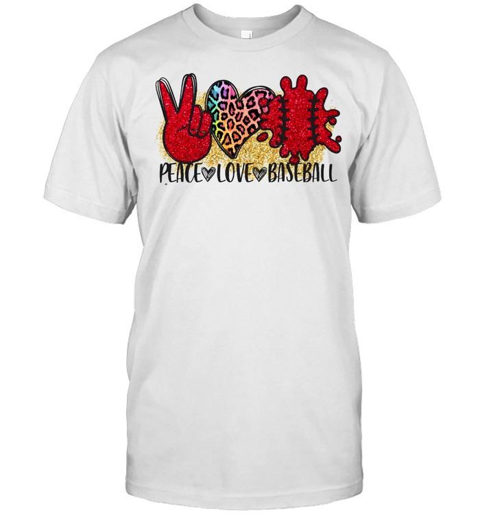 Peace Love Baseball shirt Classic Men's T-shirt