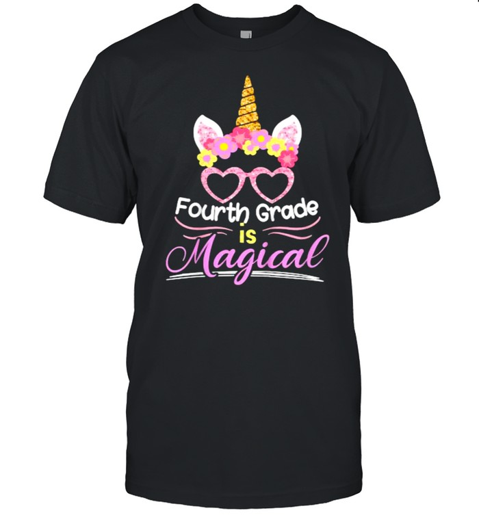 Fourth Grade Is Magical First Day Of School Back To School Unicorn T- Classic Men's T-shirt