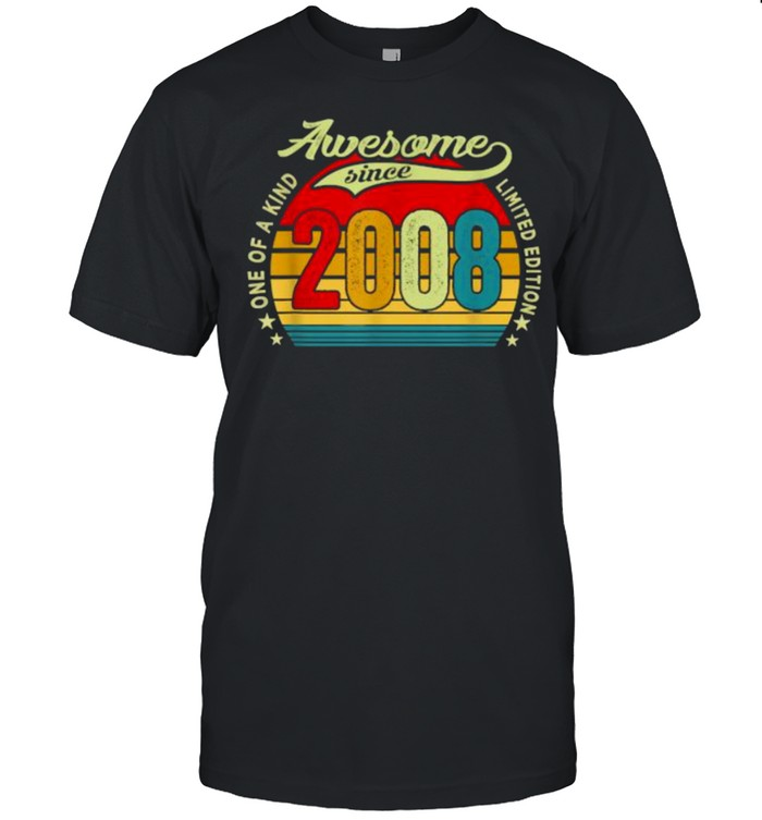 One of a kind awesome since 2008 vintage shirt Classic Men's T-shirt
