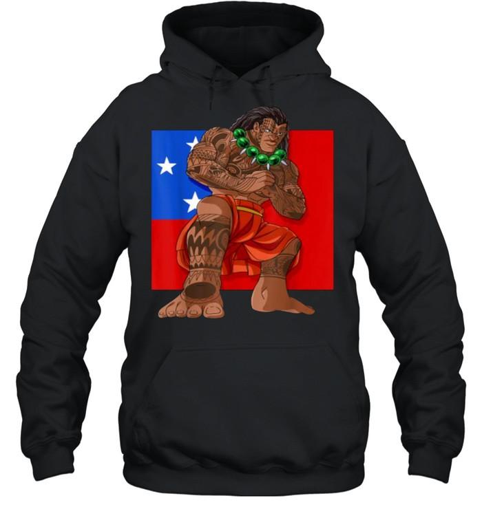 samoan pride polynesian haka dance samoa flag t  unisex hoodie