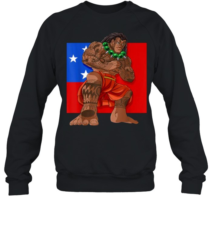 samoan pride polynesian haka dance samoa flag t  unisex sweatshirt