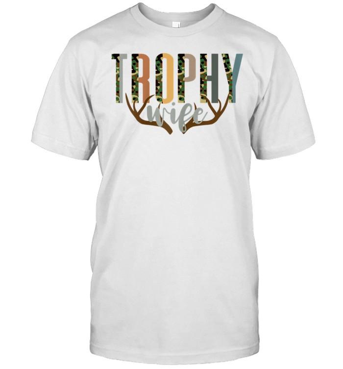 Trophy Wife Antler Hunting Wife shirt Classic Men's T-shirt