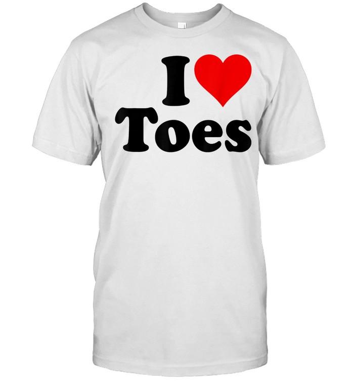 I HEART TOES I LOVE TOES SEXY FEET shirt Classic Men's T-shirt