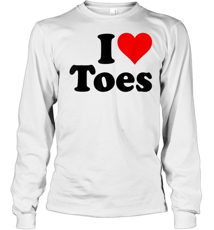 i heart toes i love toes sexy feet shirt long sleeved t shirt