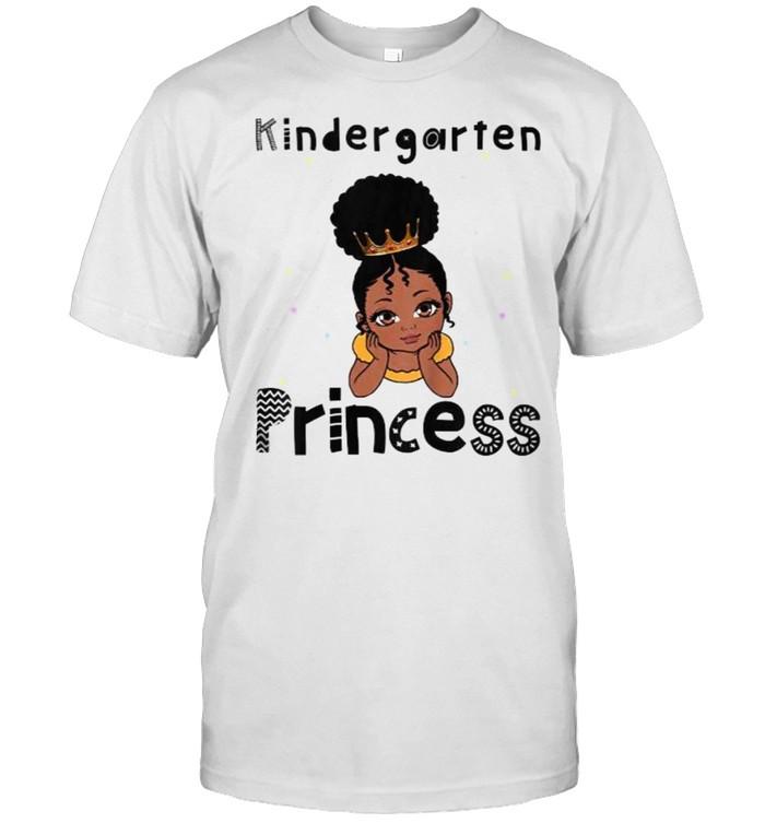 Kids Kindergarten Princess Toddler Black Girl 1st Day Of School  Classic Men's T-shirt