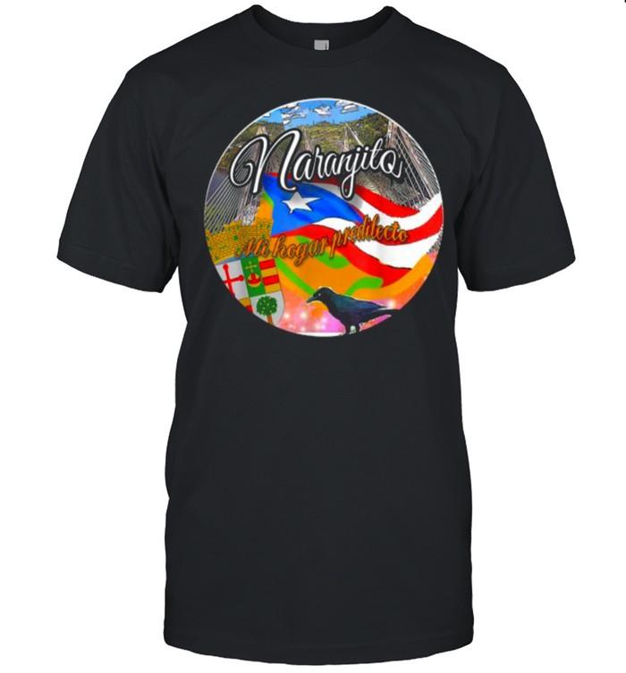 Naranjito Mi Hogar Predilecto raven flags T- Classic Men's T-shirt