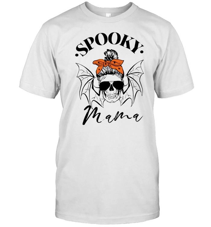 Spooky mama skull Halloween shirt Classic Men's T-shirt