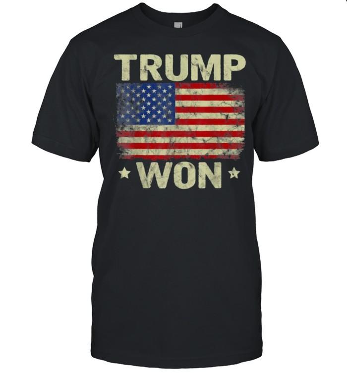 Trump Won T  4th of July American Flag T- Classic Men's T-shirt