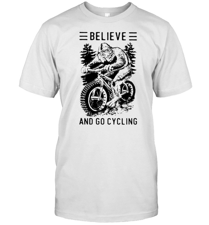Believe And Go Cycling Big Foot  Classic Men's T-shirt