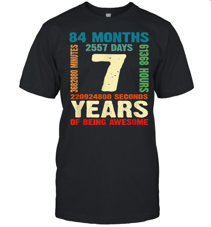 7 Years Old 7th Birthday Boy Girl Awesome Bday Outfit shirt Classic Men's T-shirt