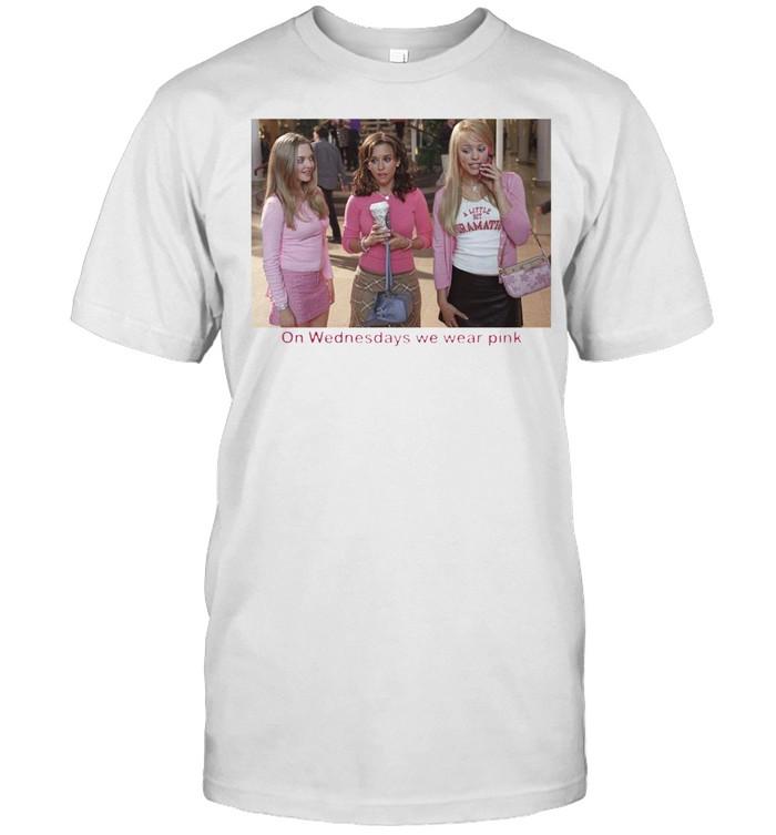 GIRLS ON WEDNESDAYS WE WEAR PINK SHIRT Classic Men's T-shirt