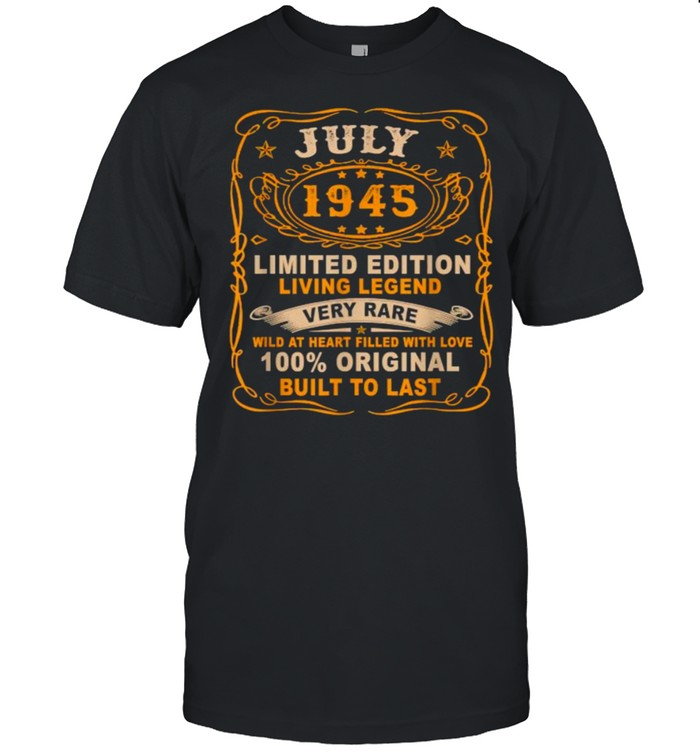 July 1945 Limited Edition Living Legend Very Rare Vintage T- Classic Men's T-shirt