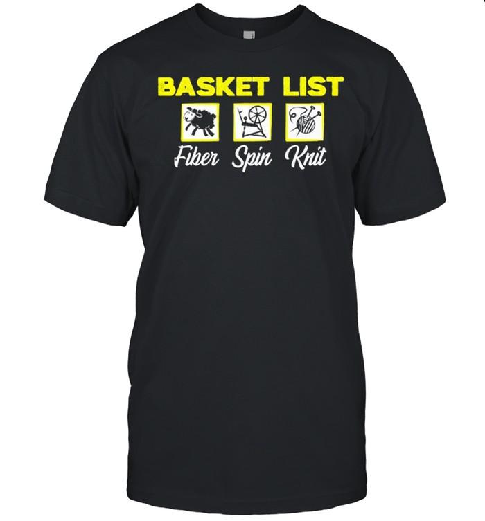 Basket List Fiber Spin Knit shirt Classic Men's T-shirt