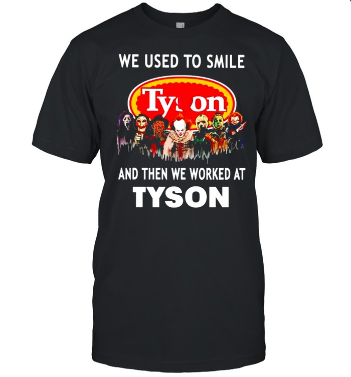Horror Halloween we used to smile and the we worked at Tyson shirt Classic Men's T-shirt