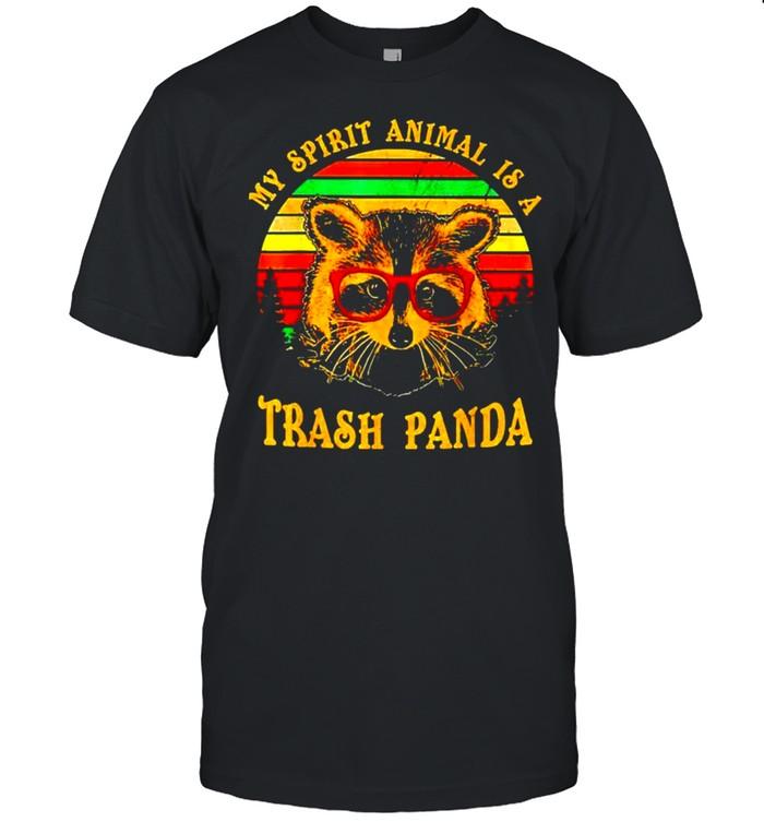 Raccoon my spirit animal is a trash panda vintage shirt Classic Men's T-shirt