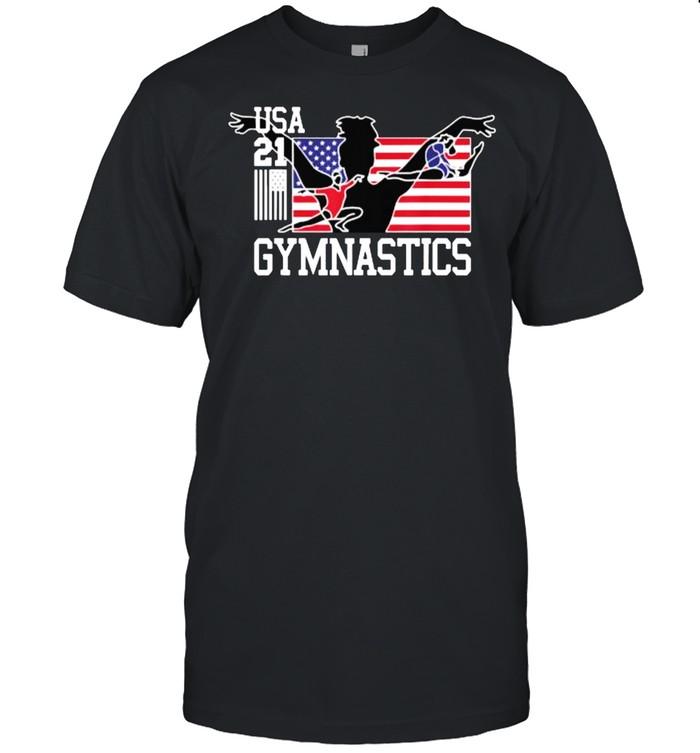 USA Tokyo Gymnastics 2021 Summer Games Flag Gold Zone T- Classic Men's T-shirt
