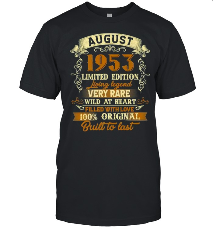 Born In August 1953 Vintage 68th Birthday Gift 68 Year Old Premium T- Classic Men's T-shirt