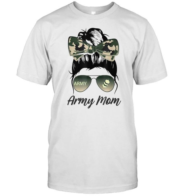 Proud Army Moms Messy Bun Military T- Classic Men's T-shirt