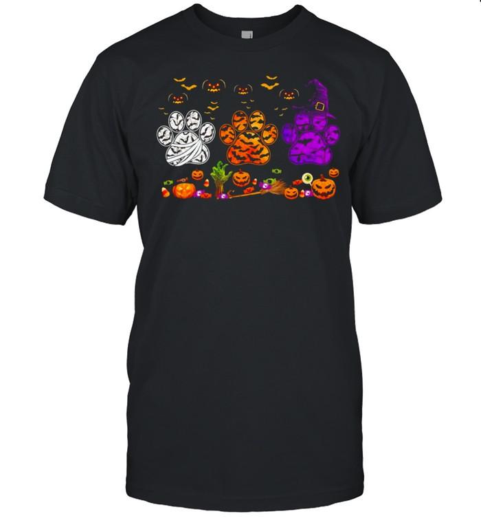 Dogs Paw Pumpkin Halloween T-shirt Classic Men's T-shirt