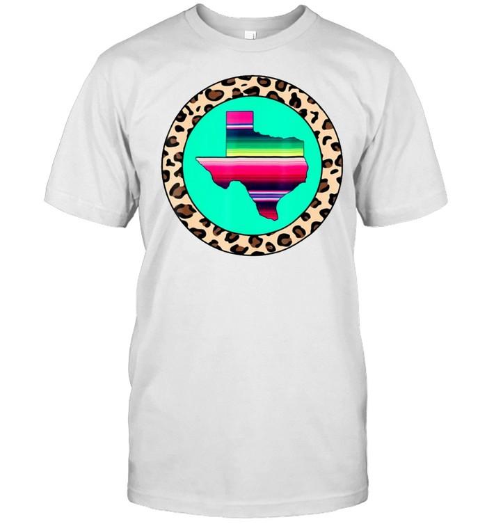 Texas Serape Leopard Print Pretty State Pride T-shirt Classic Men's T-shirt