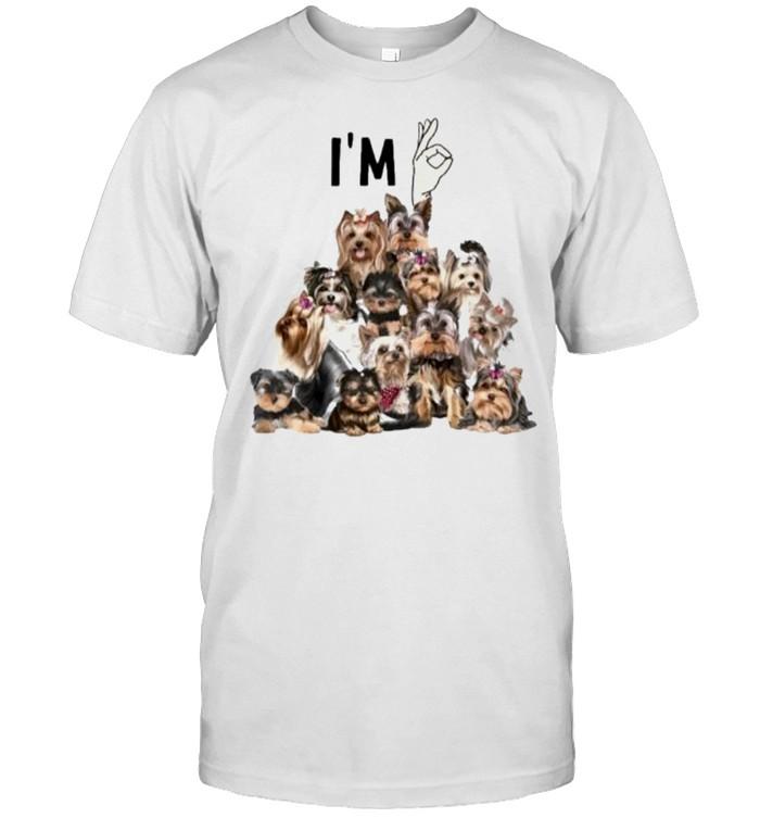 i'm Ok Yorkshine Terriers  Classic Men's T-shirt