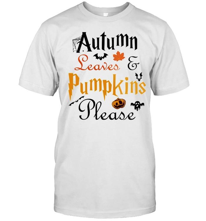 Autumn leaves and pumpkins please shirt Classic Men's T-shirt