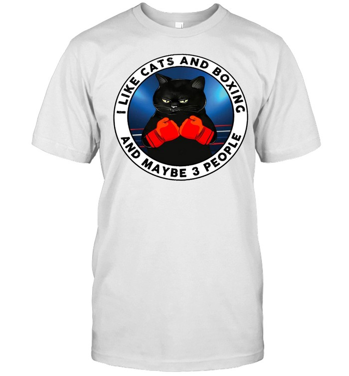 I like cats and boxing and maybe people shirt Classic Men's T-shirt