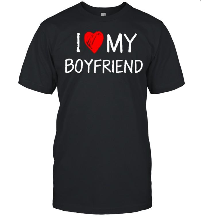 I love my boyfriend shirt Classic Men's T-shirt