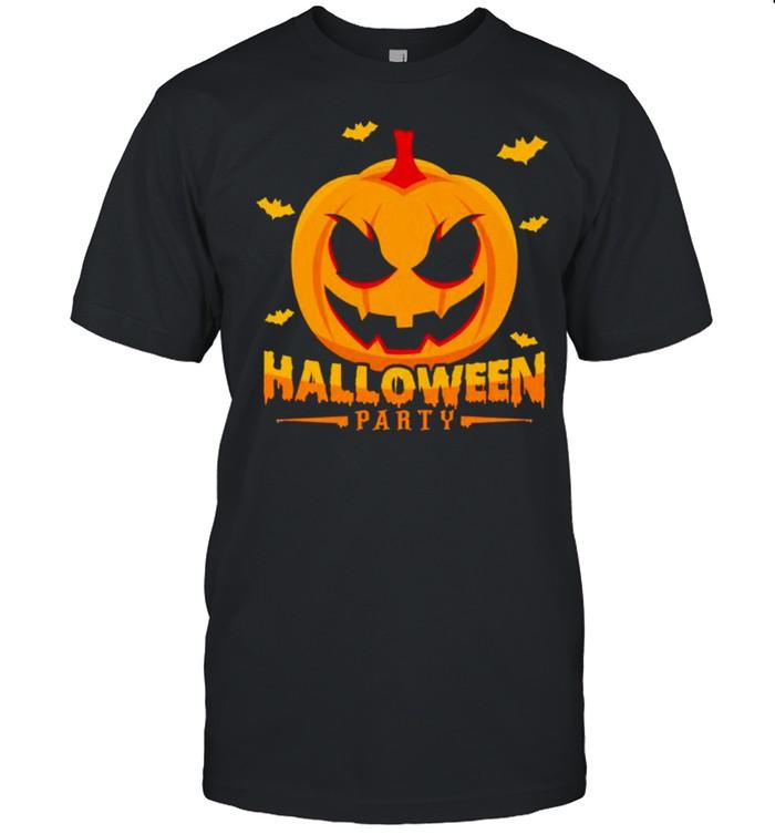 Scary pumpkin Halloween party shirt Classic Men's T-shirt