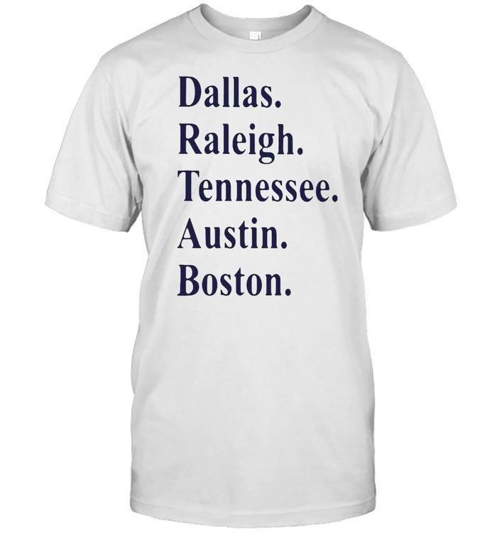 Dallas Raleigh Tennessee Austin Boston T-shirt Classic Men's T-shirt