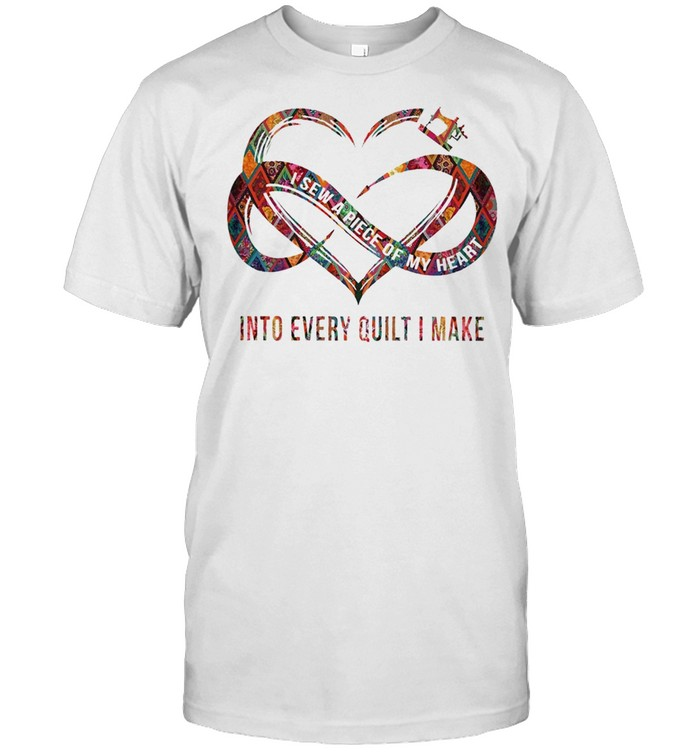 I Sew A Piece Of My Heart Into Every Quilt I Make shirt Classic Men's T-shirt