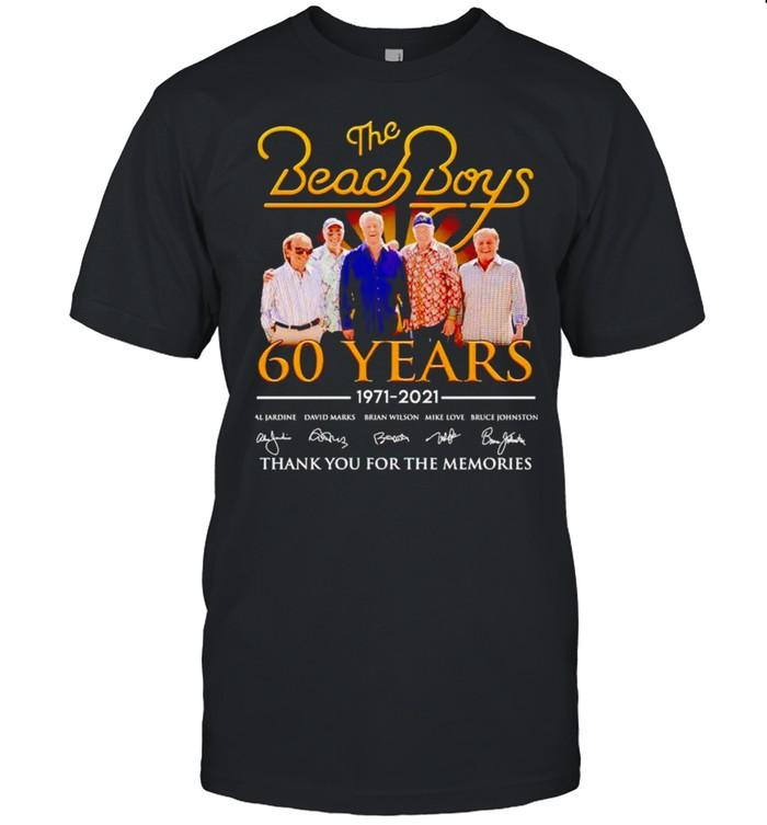 The Beach Boys 60 years 1971 2021 thank you for the memories shirt Classic Men's T-shirt