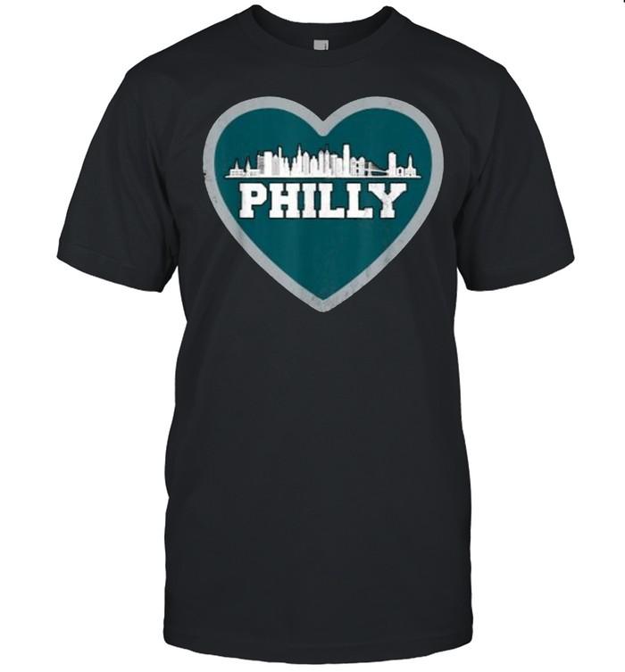 I Love Philly Heart Philadelphia Skyline Football T- Classic Men's T-shirt