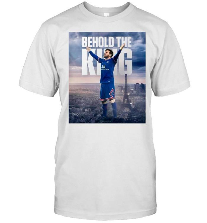 Lionel Messi Behold The King Paris Saint Germain shirt Classic Men's T-shirt