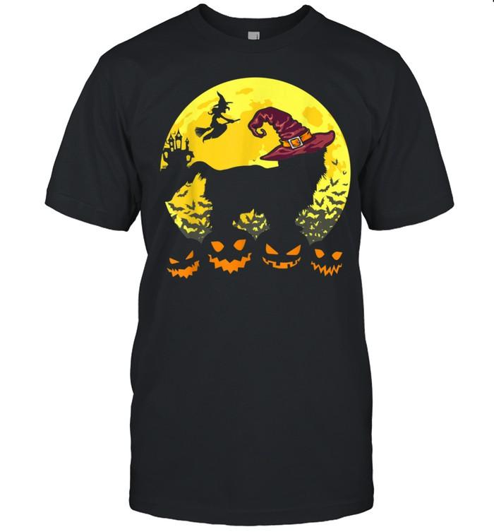 Retro Halloween Costume Shih Tzu With Witch Hat shirt Classic Men's T-shirt