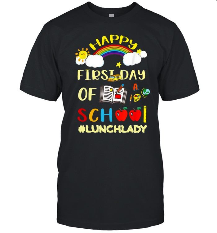 Happy First Day Of School Lunch Lady Girls T-shirt Classic Men's T-shirt