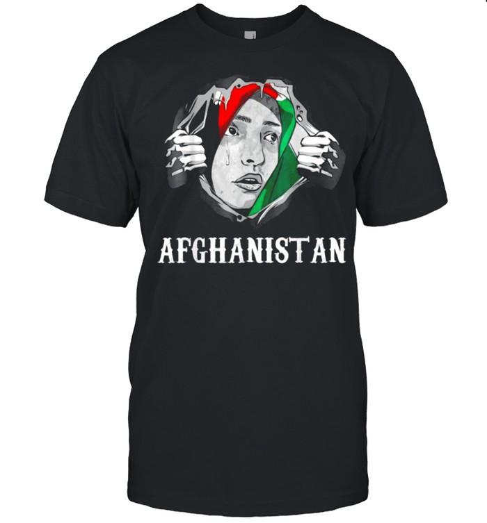Afghanistan Woman I Love Afghanistan Afghans Flag Tee  Classic Men's T-shirt