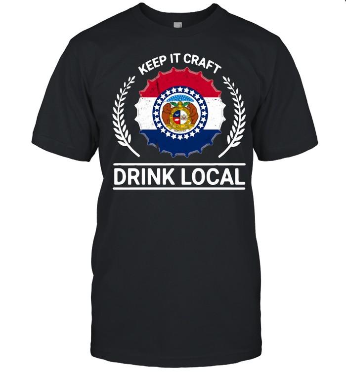 Drink Local Missouri Vintage State Flag Beer Bottle Cap T-shirt Classic Men's T-shirt