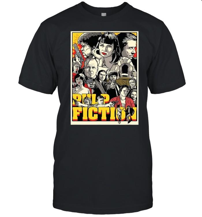 Pulp Fiction Poster Characters T-shirt Classic Men's T-shirt