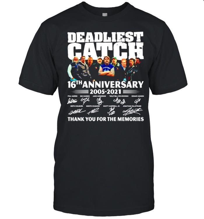 Deadliest catch 16th anniversary 2005-2021 signatures shirt Classic Men's T-shirt